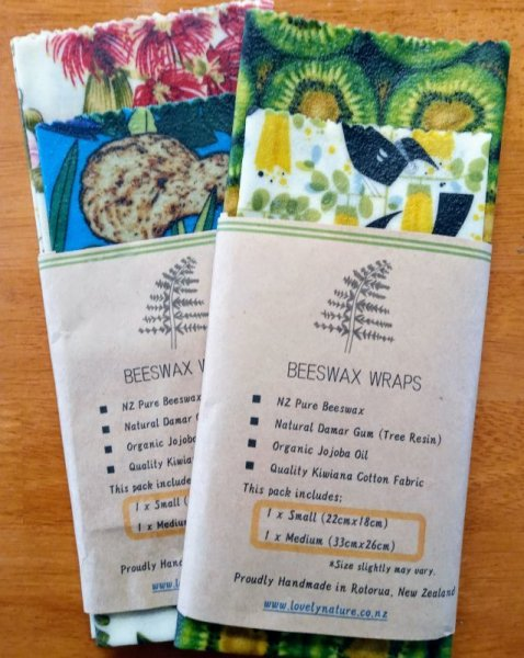 Photo1: 【Sign in & get 10% off!】Beeswax Wrap Kiwiana TWIN pack / ビーワックスラップ NZデザイン 2枚セット (1)