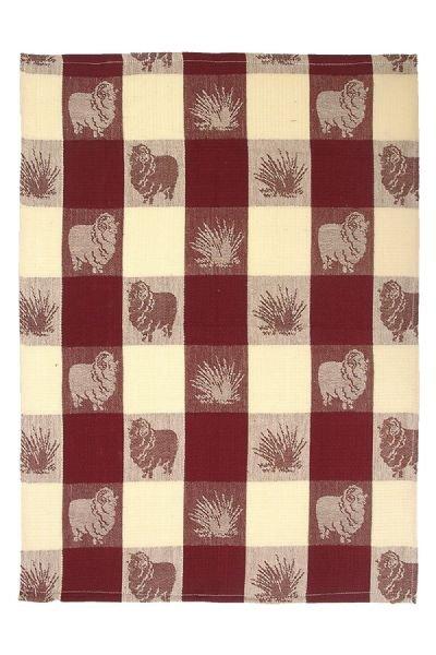 Photo1: ジャガード織ティータオル メリノ羊 (1)
